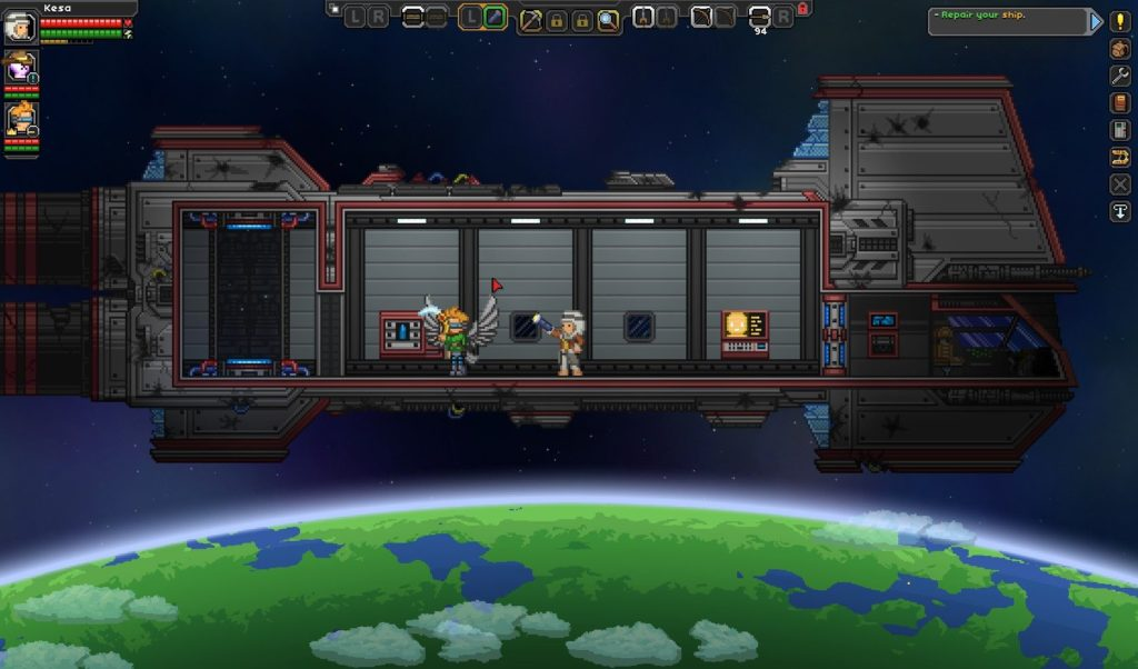 My Starbound ship was always this basic.